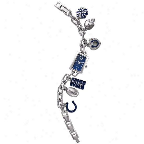 Fossil Indiahapolis Colts Ladies Stainless Steel Charm Bracelet Watch