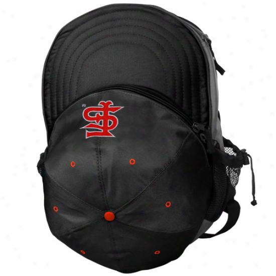 Fresno State Bulldogs Black Cooler Hat Backpack