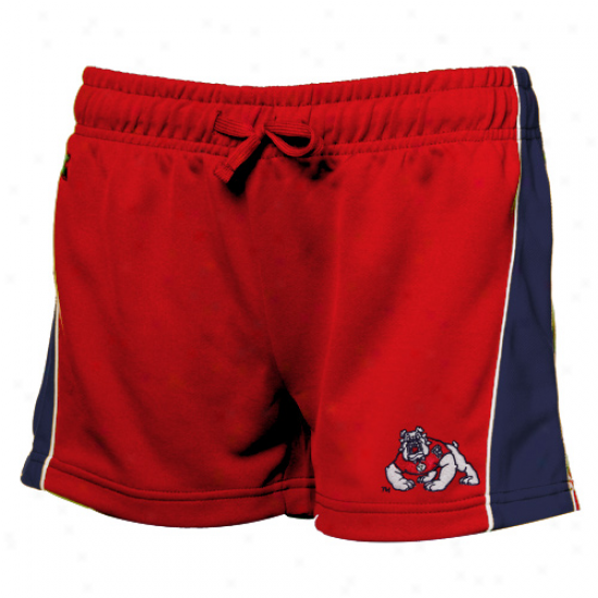 Fresno State Bulldogs  Ladies Red Colt Workout Shorts