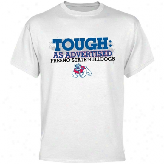 Fresno State Bulldogs White Tough T-shirt