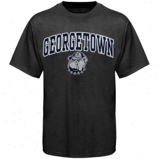Georgetown Hoyas Arched Seminary of learning T-shirt - Charcoal