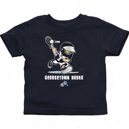 Georgetown Hoyas Infant Boys Lacrosse T-shirt - Navy Blue