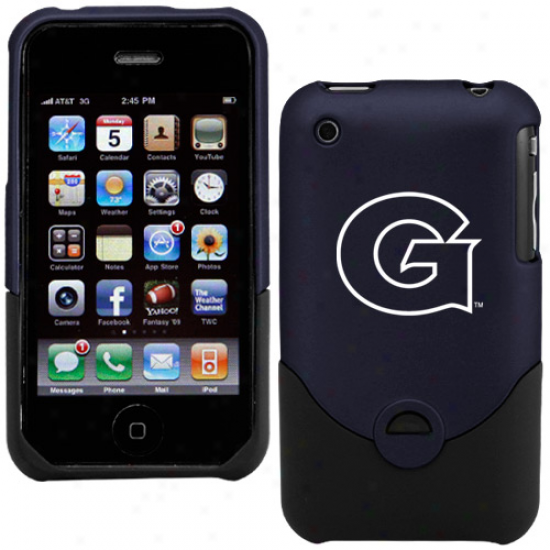 Georgetown Hoyas Navy Blue Iphone 3g/3gs Duo Shell Case