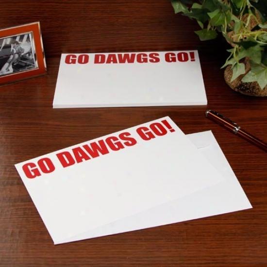 Georgia Bulldogs 20-pack Team Slogan Stationery