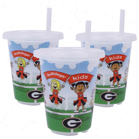 Georgia Bulldogs 3-pack 10oz. Sip N' Go Plastiic Cups