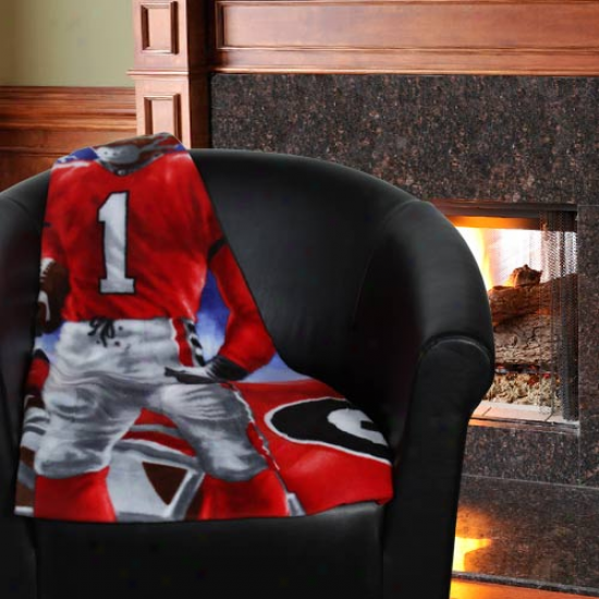 Georgia Bulldogs 48'' X 60'' Lightning Fleece Blanket