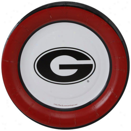 Georgia Bulldogs 8-pack Stripes Paper Dewsert Plates