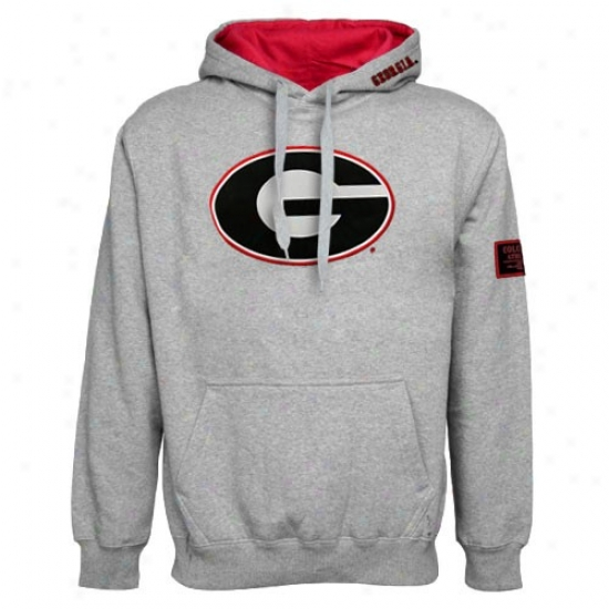 Georgia Bulldogs Ash Self-moving Hood6 Sweatshirt