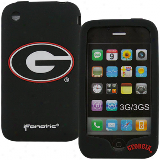 Georgia Bulldogs Black Silicone Iphone 3g/3gs Case