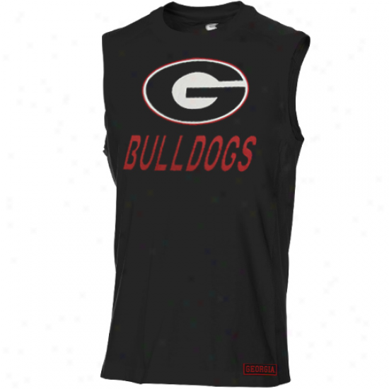 Georgia Bulldogs Dart Sleeveless T-shirt - Black