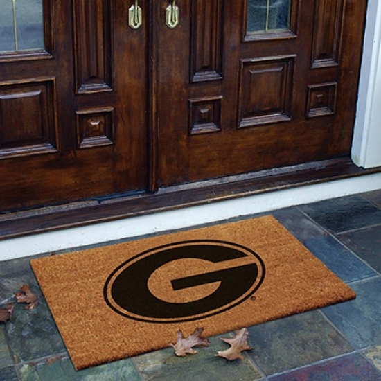 Georgia Bulldogs Flocked Coir House Mat