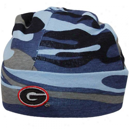 Georgia Bulldogs Infant Blue Camo Knit Beanie