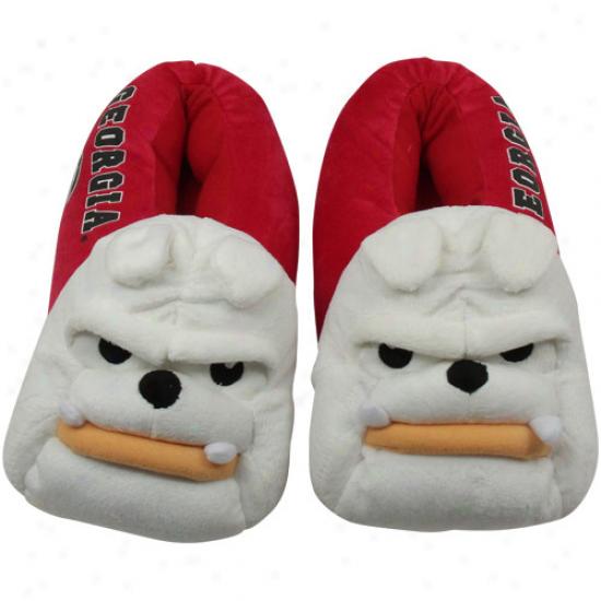 Georgia Bulldogs Mascot Plush Slippers