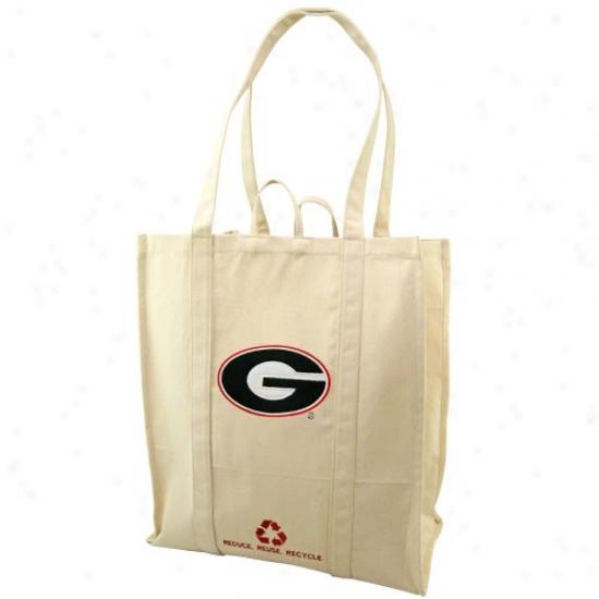 Georgia Bulldogs Natural Resuable Organic Tote Bag