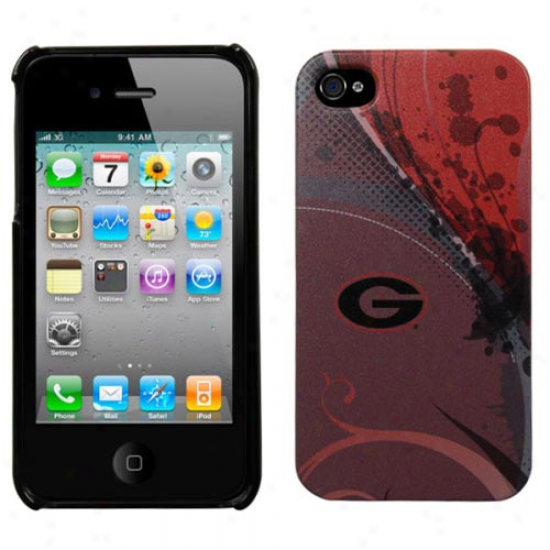 Georgia Bulldogs Swirl Iphone 4 Case