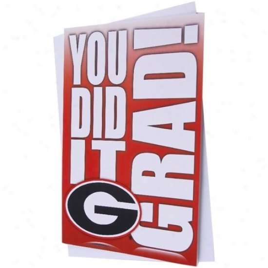 Georgia Bulldogs Team Logo Graduation Card