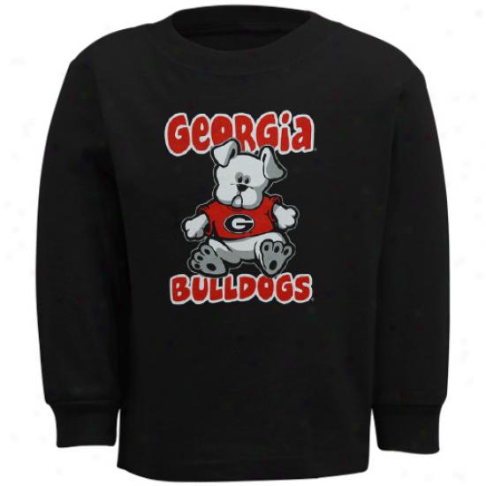 Georgia Bulldogs Toddler Stacker Long Sleeve T-shirt - Black