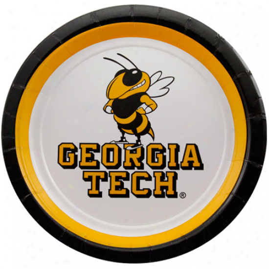 Georgia Tech Yellow Jackets 12-pack Dessert Plates