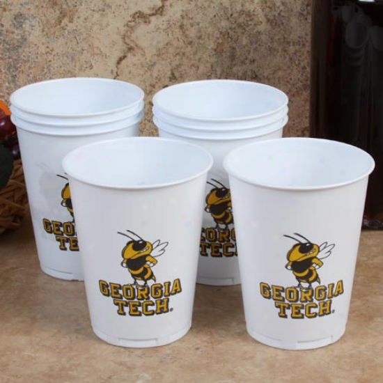 Georgia Tech Yellow Jackets 8-pack 14oz. Plastic Cups