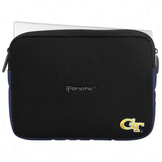 GeorgiaT ech Yellow Jackets 9''-11'' Black Ifanatic Mini Sleevz Ipad/mini Pc/standard Netbook Case