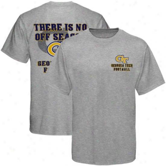 Georgia Tech Yellow Jackets Ash No Off Season T-shirt