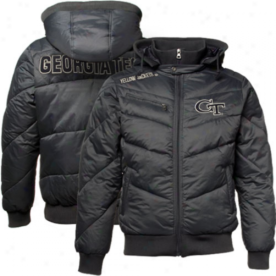 Georgia Tech Yellow Jackets Charcoal Insulator Full Zip Hoody Jacket