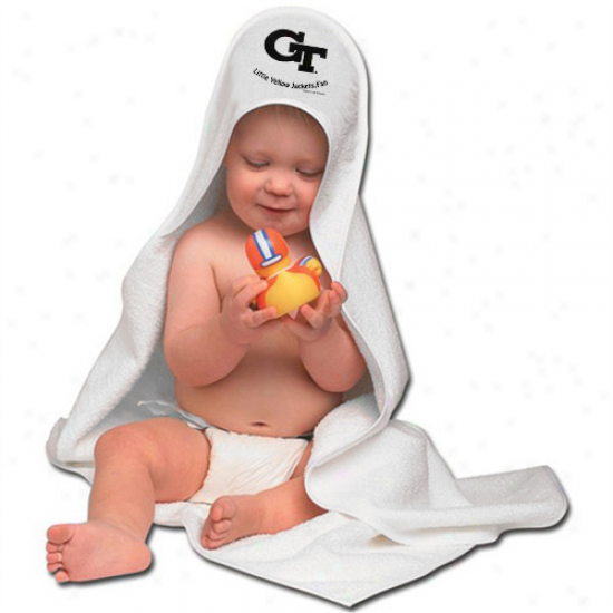 Georgia Tech Yellow Jackets Hooded Baby Towel