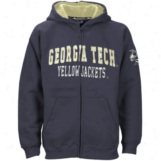 Georgia Tech Yellow Jackets Preschool Navy Blue Ranger Full Zip Hoody Sweatshirt