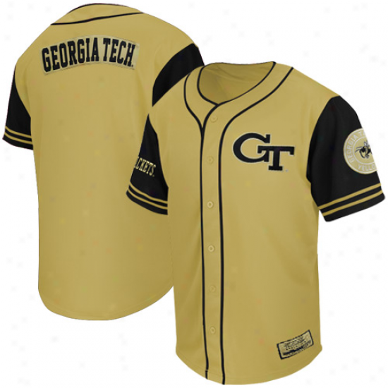 Georgia Tech Yellow Jackets Rally Baseball Jersey - Gold