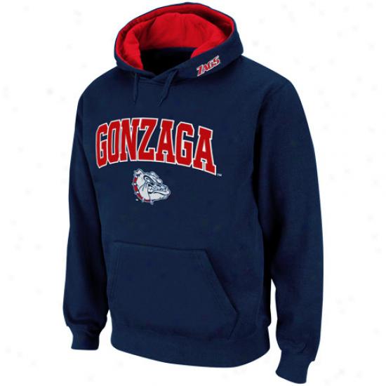 Gonzagq Bulldogs Navy Blue Classic Twill Ii Pullover Hoodie Sweatshirt