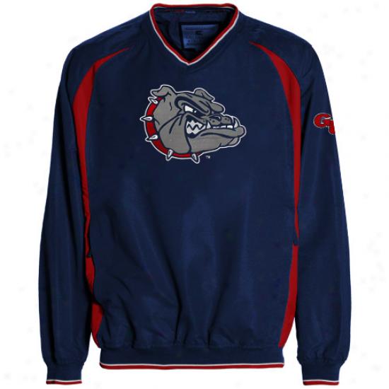 Gonzaga Bu1ldogs Navy Blue Hardball Pullover Jacket