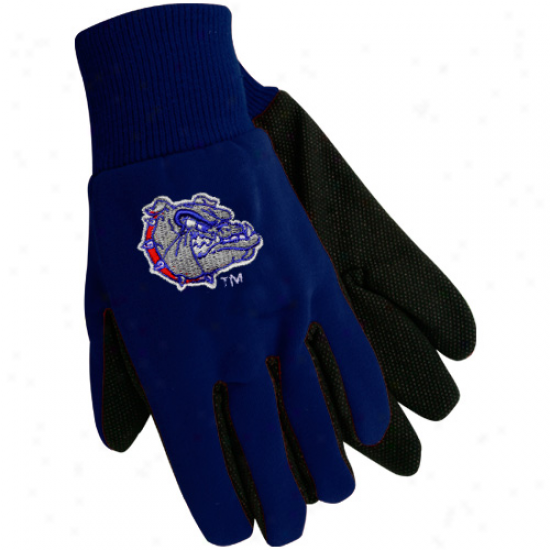 Gonzaga Bulldogs Navy Blue Team Work Utility Gloves