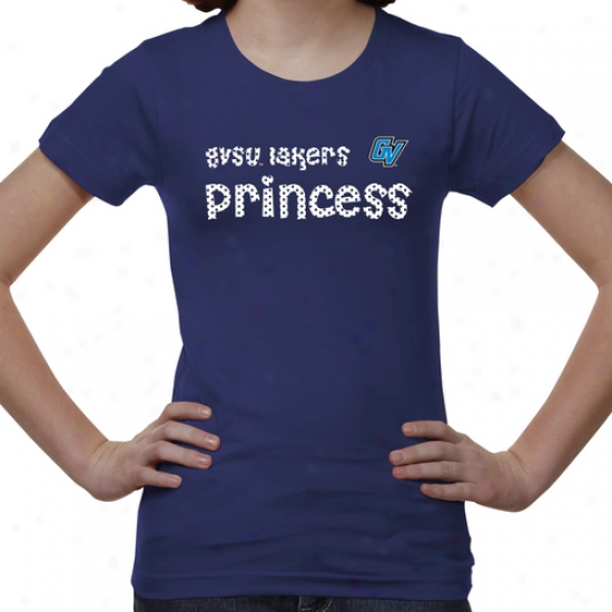 Grand Valley State Lakers Youth Princess T-shirt - Royal Blue