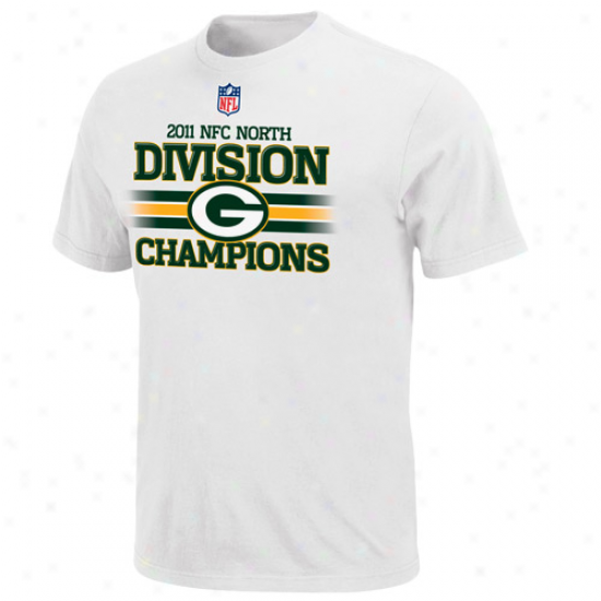 Green Bay Packerx 2011 Nfc North Division Champions Locker Room T-shirt - White