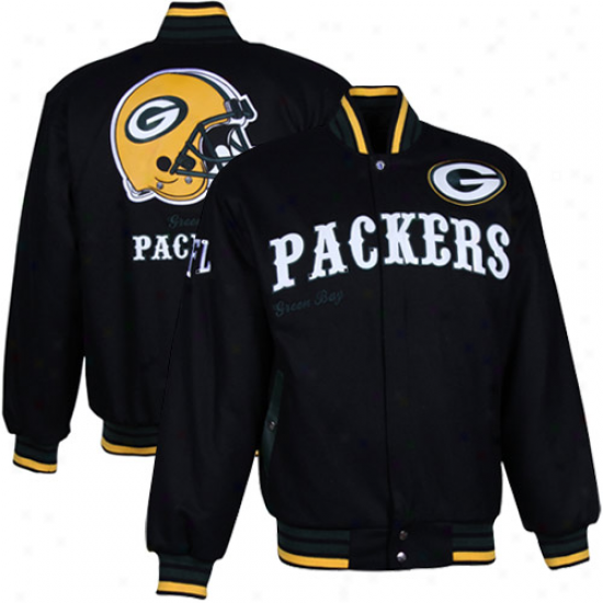 Green Bay Packers Black First Down Jacket