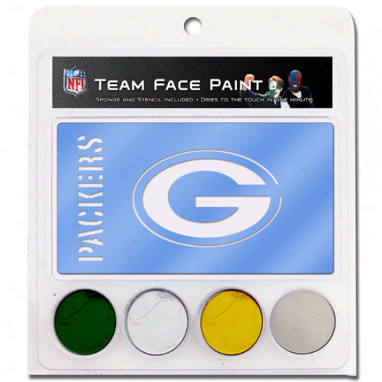 Green Bay Packers Face Paint With Stncils