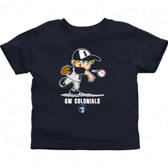 Gw Colonials Infant Boys Baseball T-shirt - Navy Blue