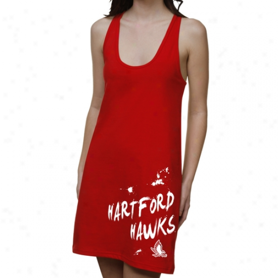 Hartford Hawks Ladies Paint Strokes Junior's Racerback Adjust - Red