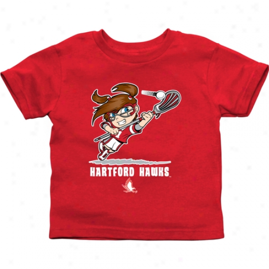 Hartford Hawks Toddler Girls Lacrosse T-shirt - Red