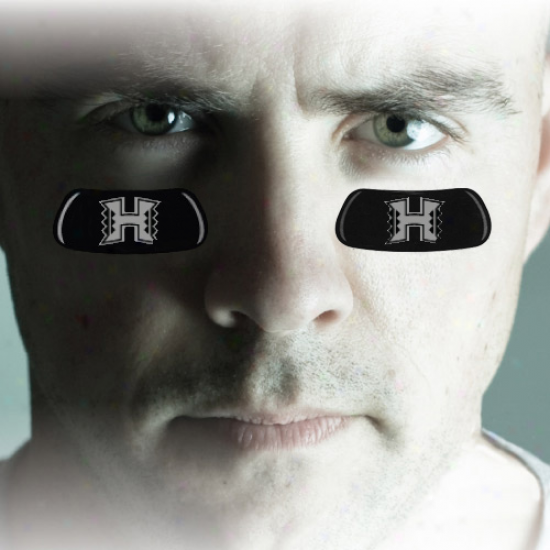 Hawaii Warriors Team Logo Eyeblack Strips