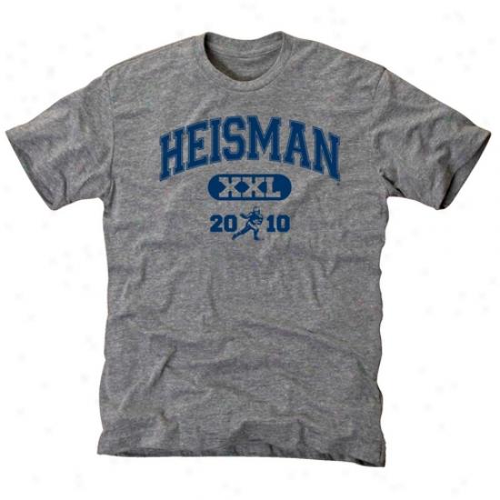 Heisman Trophy Trust Ash Lineman Tri-blend T-shirt