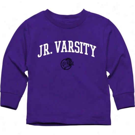 Holy Cross Crusaders Toddler Jr. Varsity Long Sleeve T-shirt - Purple