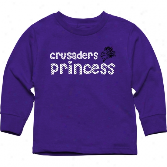 Holy Cross Crusade5s Toddler Princess Long Sleeve T-shirt - Purlpe