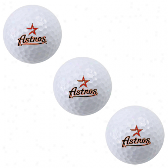 Houston Astros 3-pack Golf Ball Sleeve