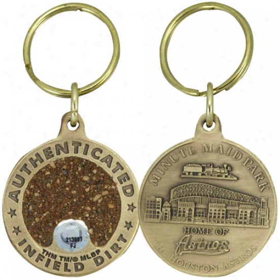 Houston Astros Minute Maid Park Bronze Infield Dirt Keychai