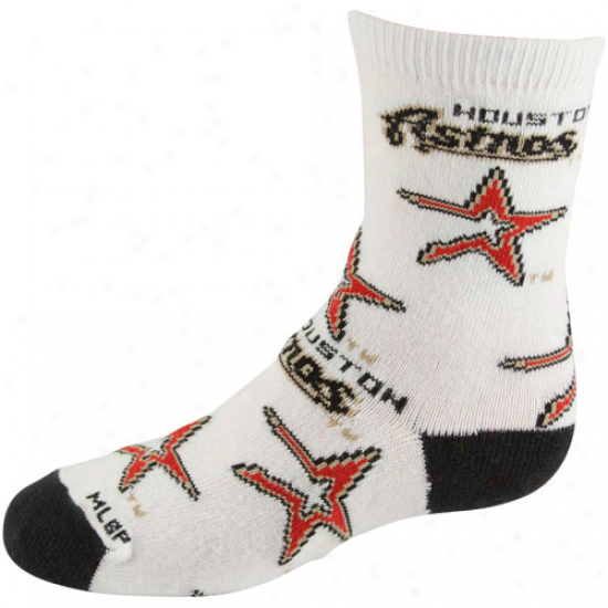 Houston Astros Preschool Allover Crew Socks - White