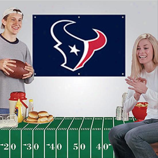 Houston Texans Fan Banner & Tablecloth 2-plece Football Party Kit
