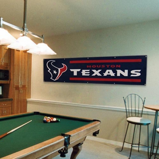 Houston Texans Navy Blue 8' X 2' Banner