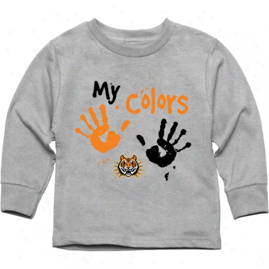 Idaho State Bengals Toddler My Colors Long Sleeve T-shirt - Ash