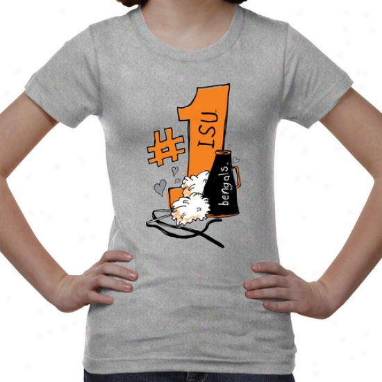 Idaho State Bengals Youth #1 Fan T-shirt - Ash